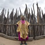 Meet the lion skin-clad queen of Namibia's Okwanyama tribe, who lives inside a LABYRINTH